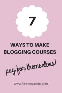 Money, tips, blogging courses, online business, posts, social media