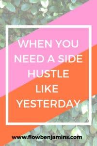 side hustle, quick cash, extra cash