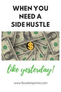 side hustle, extra cash, quick cash