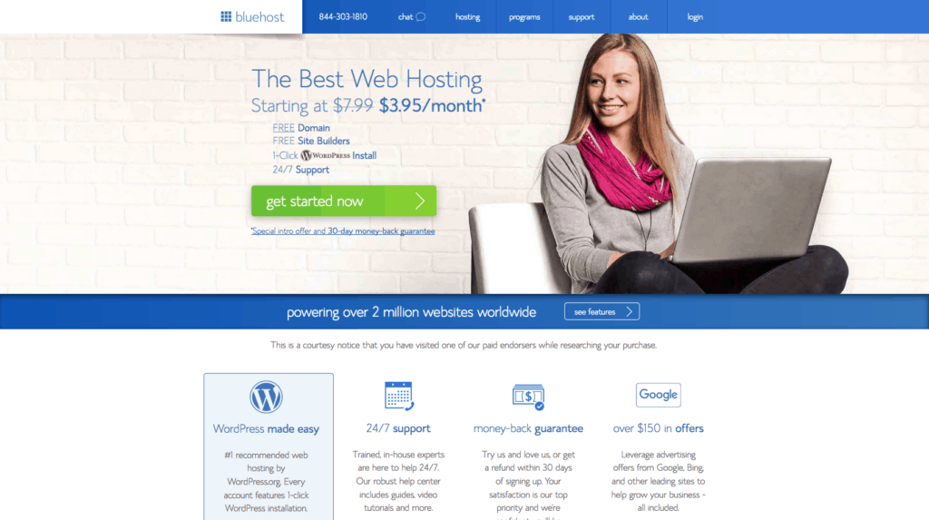 start a blog, wordpress, bluehost