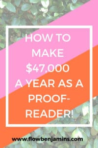 proofread anywhere, work from home, side hustle