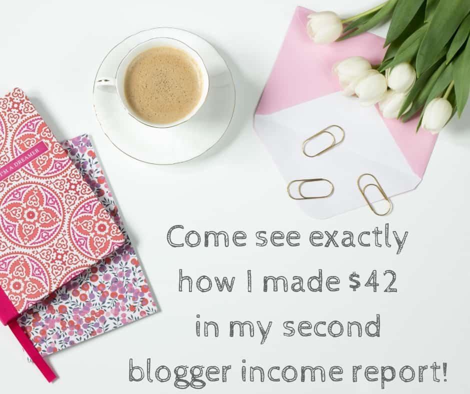second blogger income report