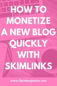 monetize a new blog