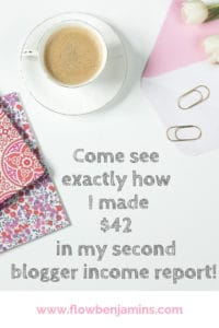 My Second Blogger Income Report